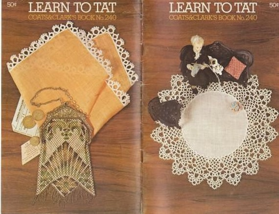5 Vintage Coats and Clark, Crochet, Tatting, Embroidery- Booklets 1970s