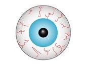 Custom listing for onomatopoeias (2 Eyeball buttons)