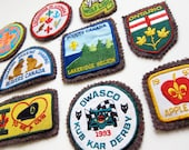 Vintage 1990s BOY SCOUT Badges / Canadiana Ontario Camping 22 Piece Lot