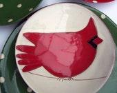 Cardinal Bird Plate