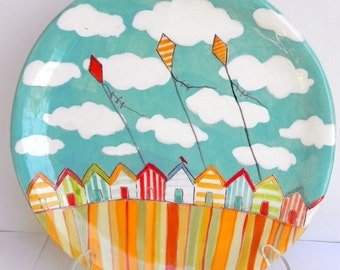 "Sunny Seaside 8"" Plate - MADE TO ORDER"