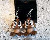 Super Mario Inspired Goomba Earrings