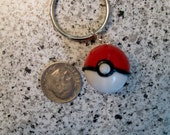 Pokeball Inspired Polymer Keychain