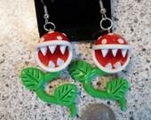 Piranha Plant Earrings