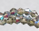 Czech firepolished faceted glass beads