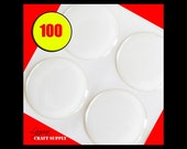 100 Epoxy Stickers for Bottle Cap Pendants - 100 1 inch 3D Circle Stickers