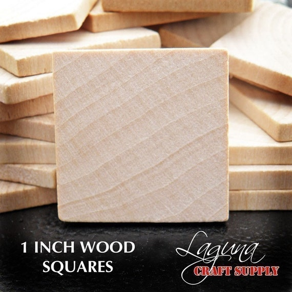 NEW - Special - 100 1 Inch Wood Squares. Bulk Lot - Perfect for Pendants, Magnets, and Charms.  Scrabble Tile Alternative