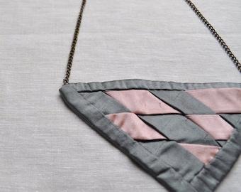 Triangle Dupioni Silk Necklace - (Ready to Ship)