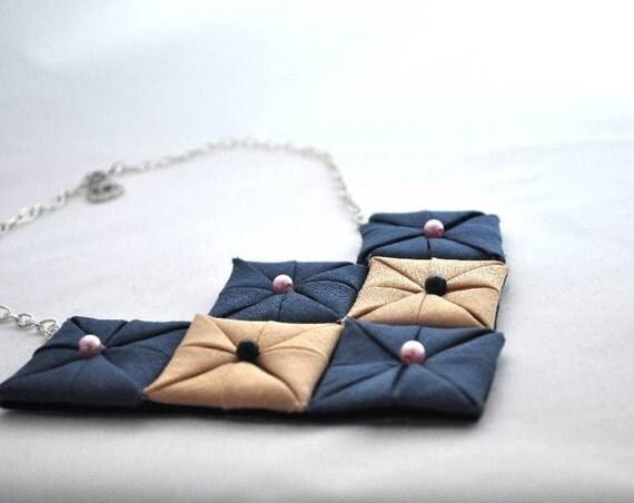 Origami Textiles Necklace