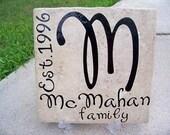 Family Name  - Vinyl Lettering on Tile