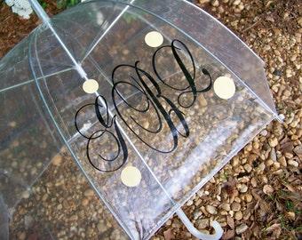 """Personalized 46"""" Clear Dome Umbrella"""
