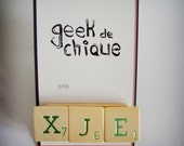 XJE - Scrabble brooch