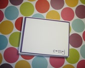 Personalized Flat Note Cards Set of 16