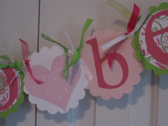 Bride to Be Banner Pink/Green/White