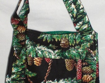 Holiday print cotton purse Bag