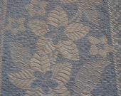 SALE Vintage Bedspread Coverlet Woven Dreamy Blue White