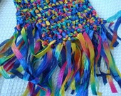 Rainbow Hand-Stitched Nylon Fashion Scarf - 92B
