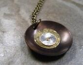 Brass Disc Modern Necklace-Eternal