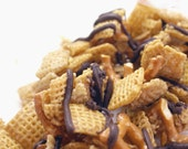 Dark Chocolate Drizzled Caramel Crunch Mix with Pretzels - 12oz
