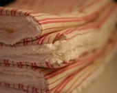 SALE - Set of 4 Baby Burp Cloths - Red Stripes