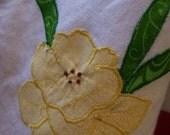 Yellow Daffodil Tea Towel