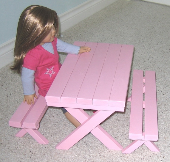 Picnic Table For American Girl Doll