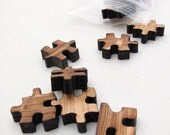 Mini Puzzle Piece Charms - Laser Cut Wood Etsy Itsies by Timber Green Woods