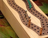 Cribbage Board Box made of Maple and Walnut Wood . Laser Cut Cribbage Board - Sustainable Wisconsin Wood - Tagt Team . Timber Green Woods