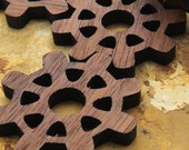 Steampunk Mini Wood Gears -  Wisconsin Oak Wood Charms by Timber Green Woods