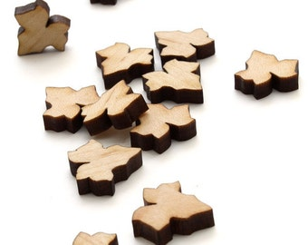 Spring Mini Ivy Leaf Beads - Itsies - Laser Cut Wood  - Timber Green Woods Sustainable Forestry Products