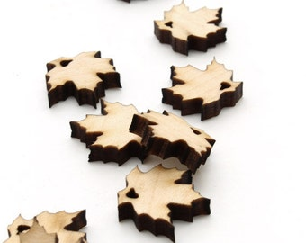 "Spring Mini Sugar Maple Leaf Beads or charms - 3/4"" (.75"") Itsies - Laser Cut Wood   Timber Green Woods Sustainable Forestry Products"