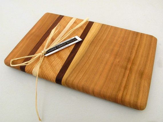 Small Cherry Wood Cutting Board - The Companion - Sustainable Harvest Wisconsin Wood . Timber Green Woods