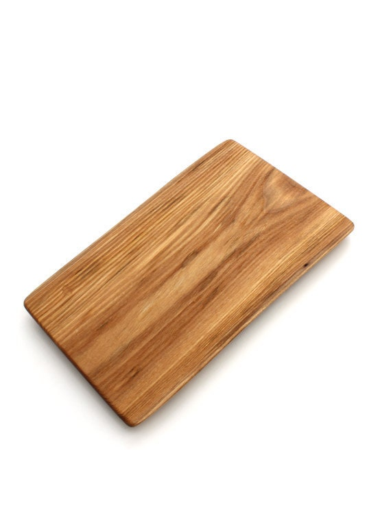 """Appetizer Serving Board - Narrow 10"""" Red Elm Live Edge Server - Sustainable Wood"""