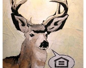 Whitetail Deer - 8x10 Art Print - Equal Housing