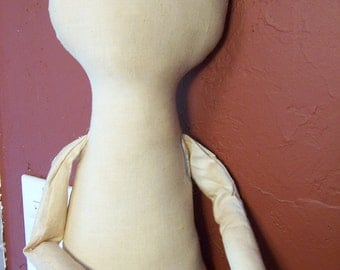 Primitive Doll Body-form-blank-tea stained or natural cotton muslin-Raggedy doll form