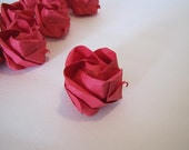 12 Red Origami Roses