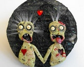 ZOMBIE LOVE - Polymer Clay Sculpture and Mosaic Art