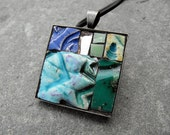 ALPINE - Mosaic art pendant