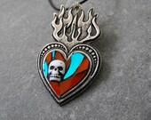 EL CORAZON - Day of the Dead pendant