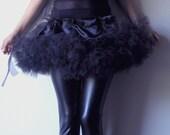 x CLEARANCE x Black Hand Gathered Tutu Wrap-Around Skirt, EGL, Ballerina, Pettiskirt, Tulle, Costume, by September Carolan on Etsy