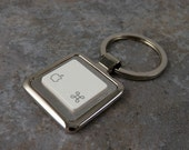 Apple, Command Key, Key ring, key chain, men's, women's, gifts, christmas, birthday, techie, geek, nerd
