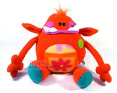Gower, the Young Trollz.. a Great Orange plush Troll Monster.