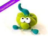 Tim, a pumpkini. a lovely Green plush decorative pumpkin. Halloween special.