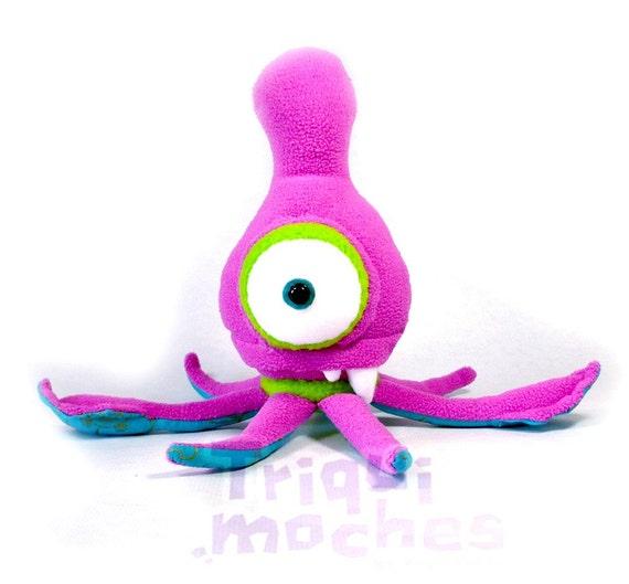 SALE - Evika Kalamako . a cool purple squid . plush sea monster