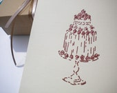 Big, Fancy Pudding Olive Wood Stamp