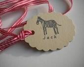 Naive Zebra Olive Wood Stamp