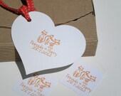 Custom Tom Cat and Lady Friend Olive Wood Stamp