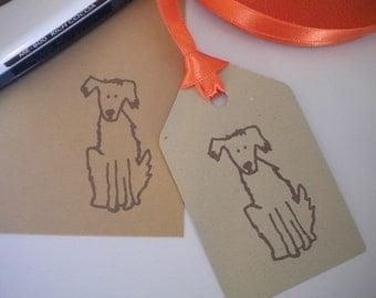 Charity Best Bud Dog Olive Wood Stamp