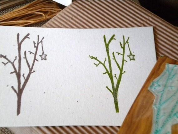 Lone Star Olive Wood Stamp