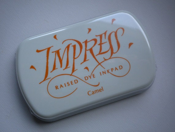 Large IMPRESS raised dye ink pad CAMEL